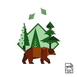 Illustration vectorielle Ours brun